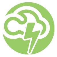 Icon for cloud powered